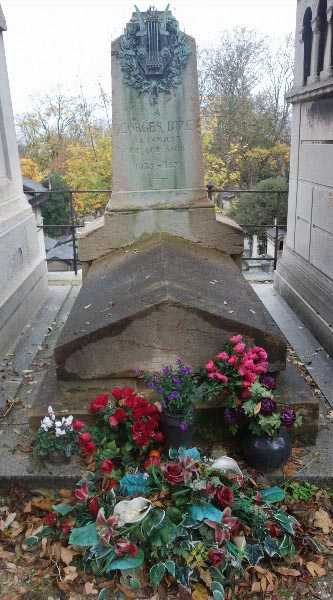 Grave of Bizet; Carmen not pictured