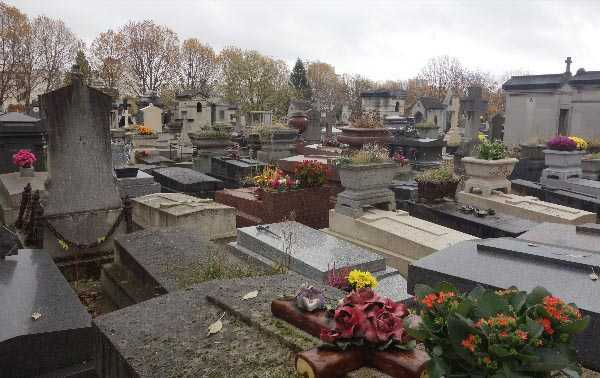 Overview of Pere Lachaise.