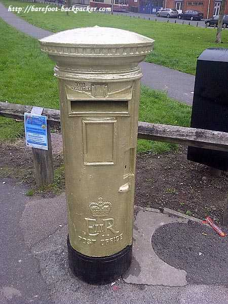 Oliver Hynd's Golden Post Box