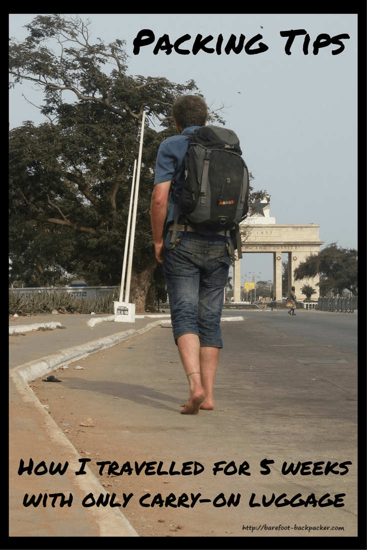How I travelled for 5 weeks in West Africa with only hand luggage.