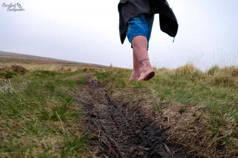 Hiking Barefoot up Winter Hill