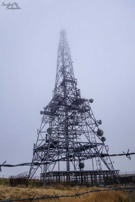 Mobile Telecommunication Transmitter atop Winter Hill