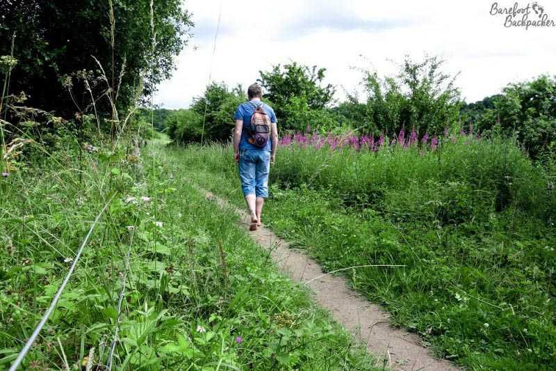 Hiking barefoot