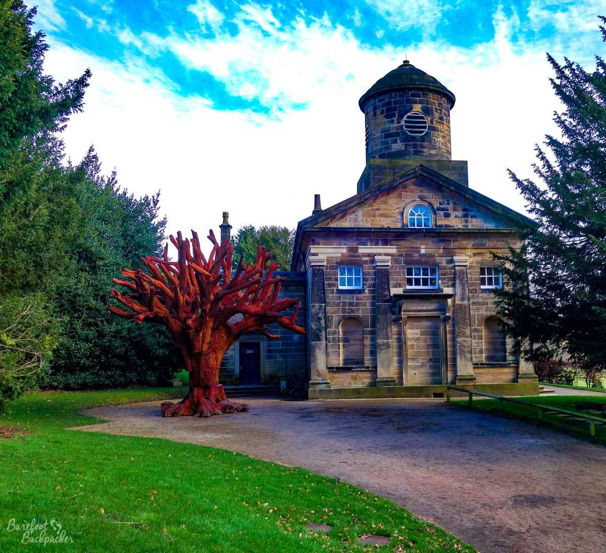 St Bartholomew's Chapel and Iron Tree, Yorkshire Sculpture Park
