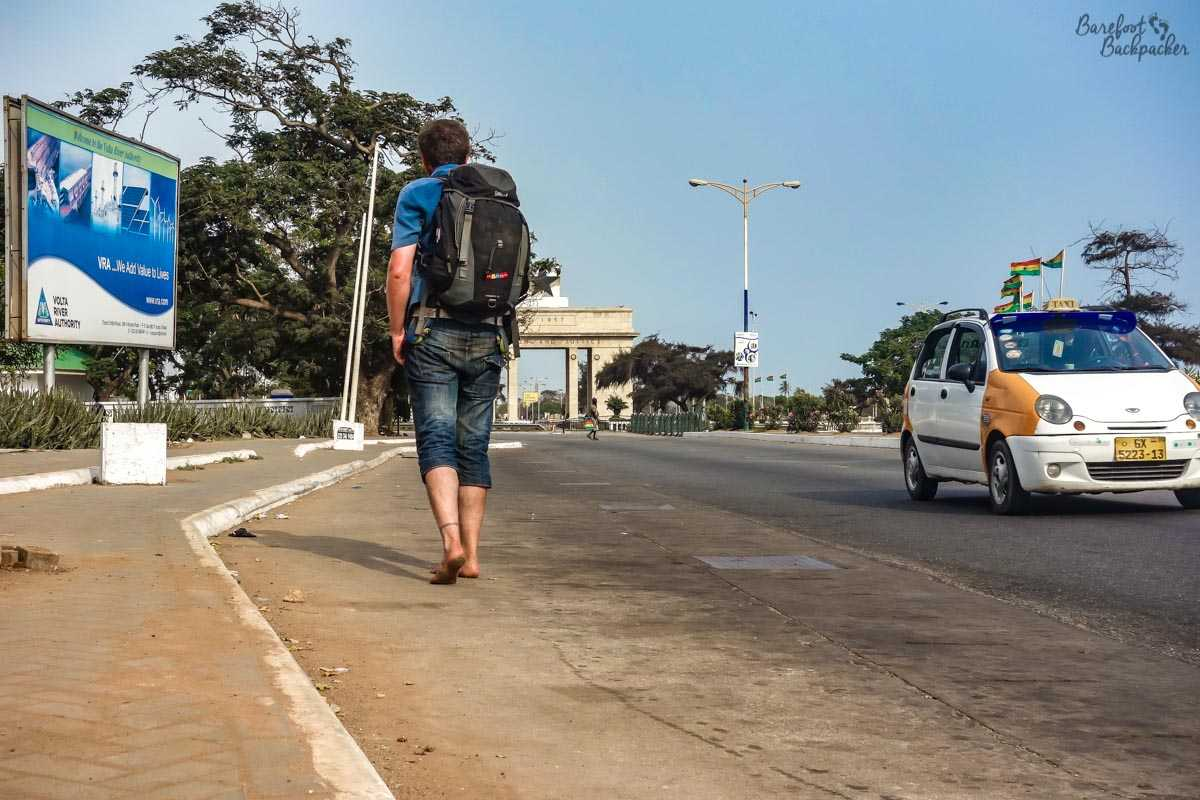 The Barefoot Backpacker in Accra.