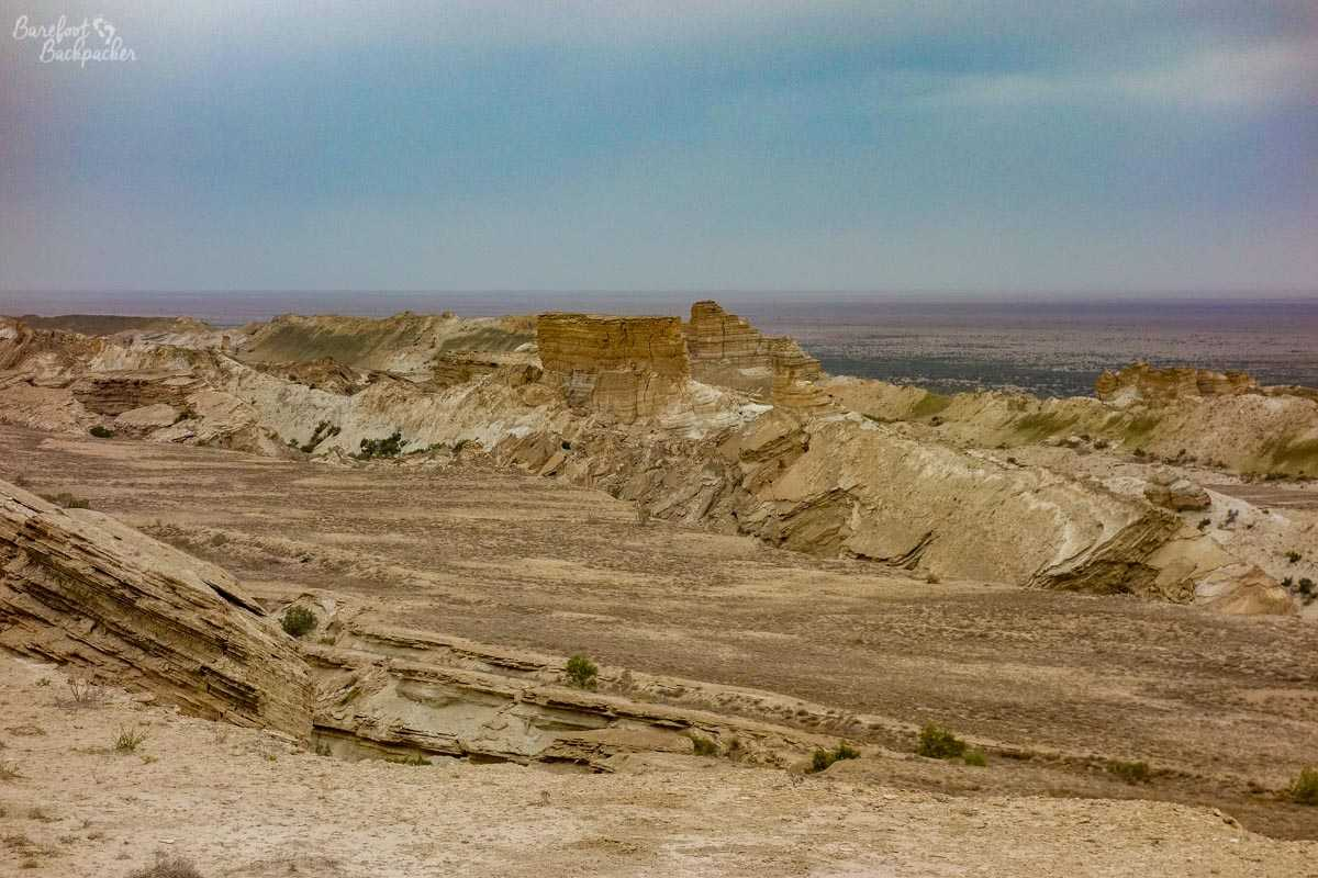 Cliffs near the Aral Sea.