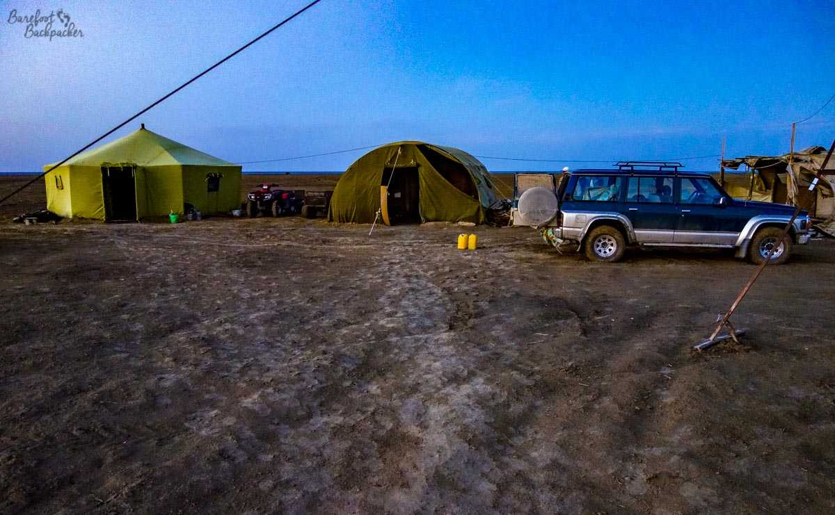 Yurts on the Aral Sea.