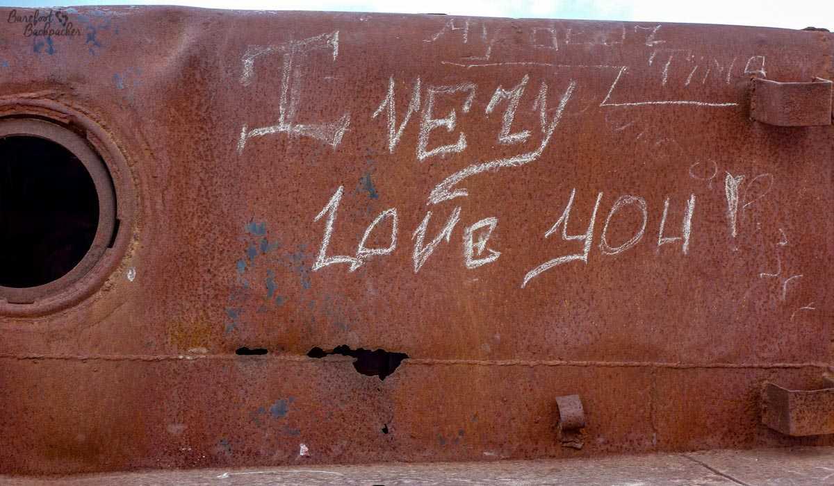 Graffiti on ships.