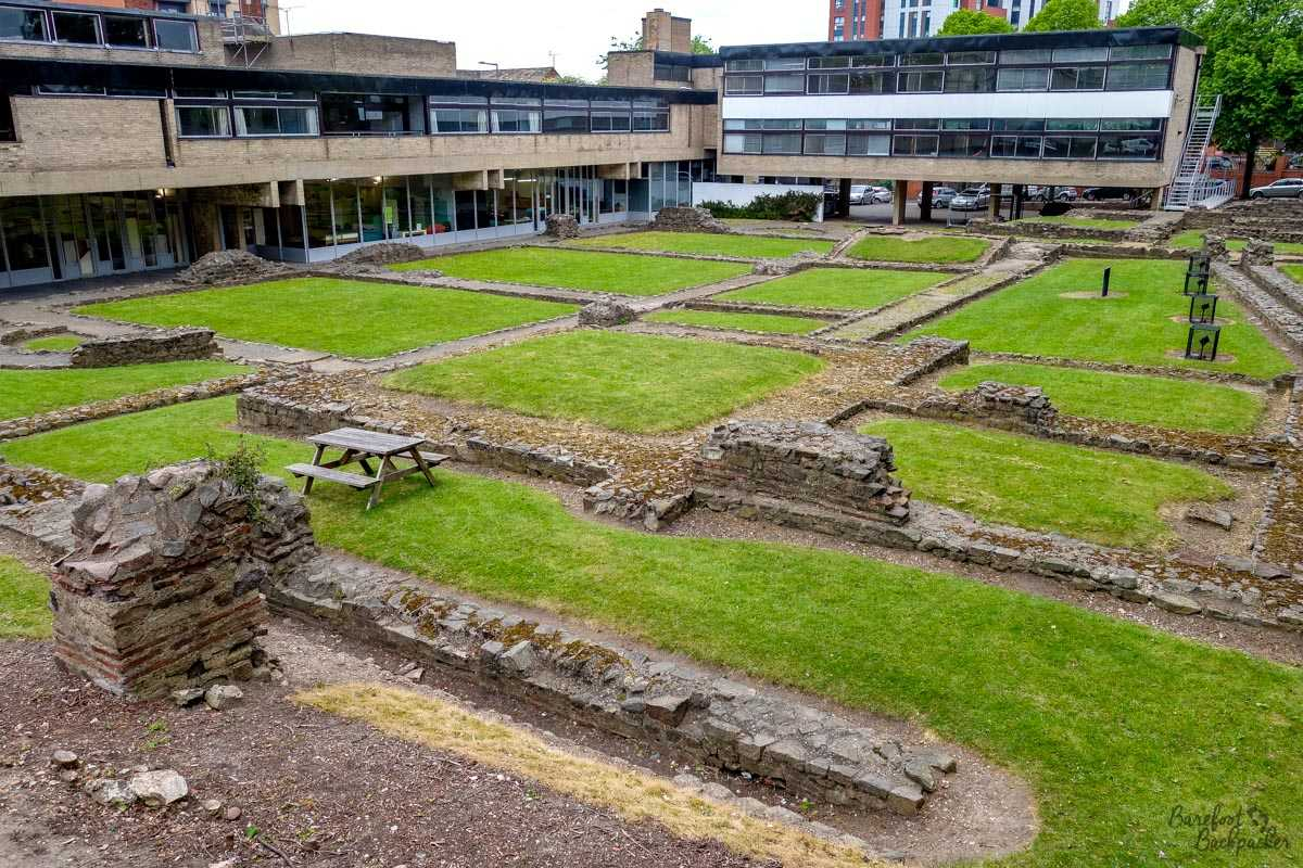 Remains of the Roman bath house, Leicester