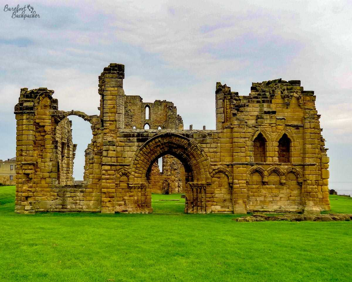 Tynemouth Abbey ruins.