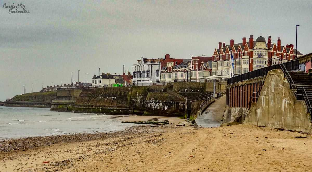 Whitley Bay Beach, dull August Day.