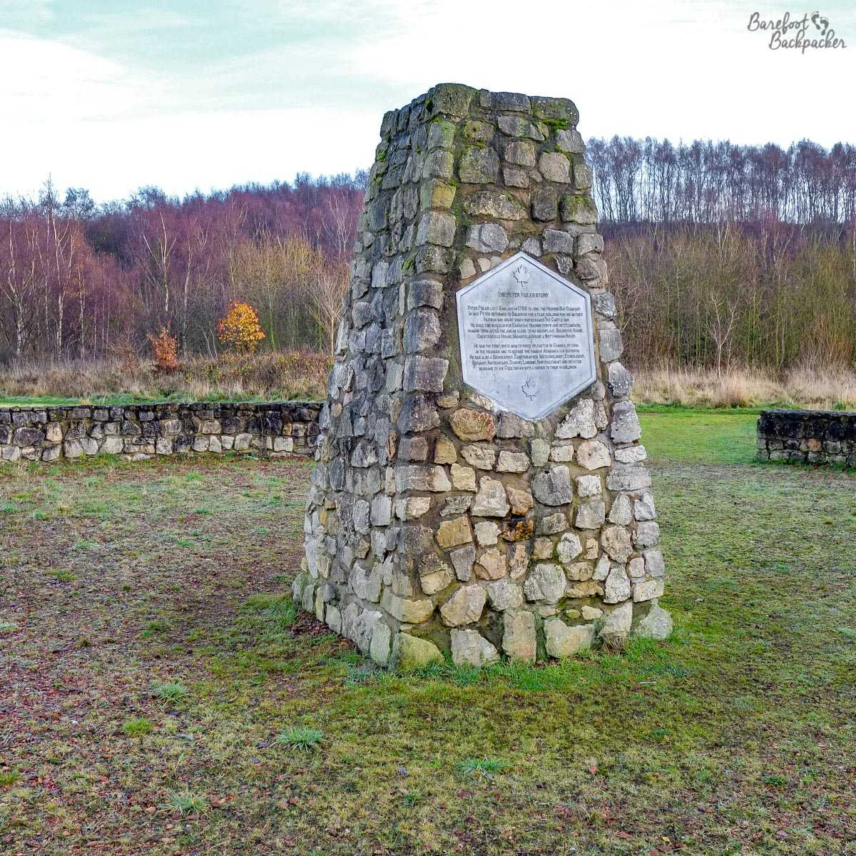 Cairn memorial to Peter Fidler, Bolsover