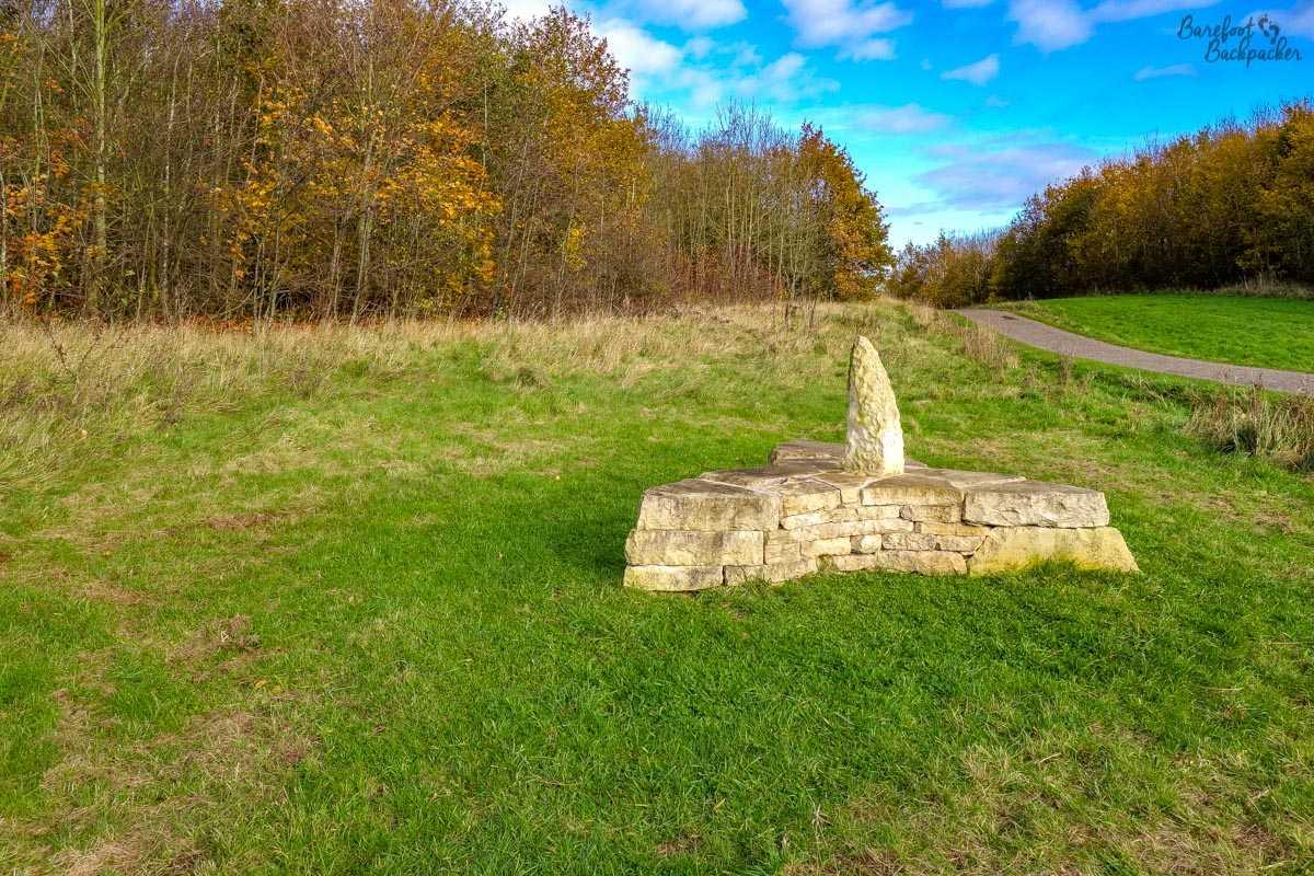 The 'Flint Flower' sculpture, Poulter Country Park