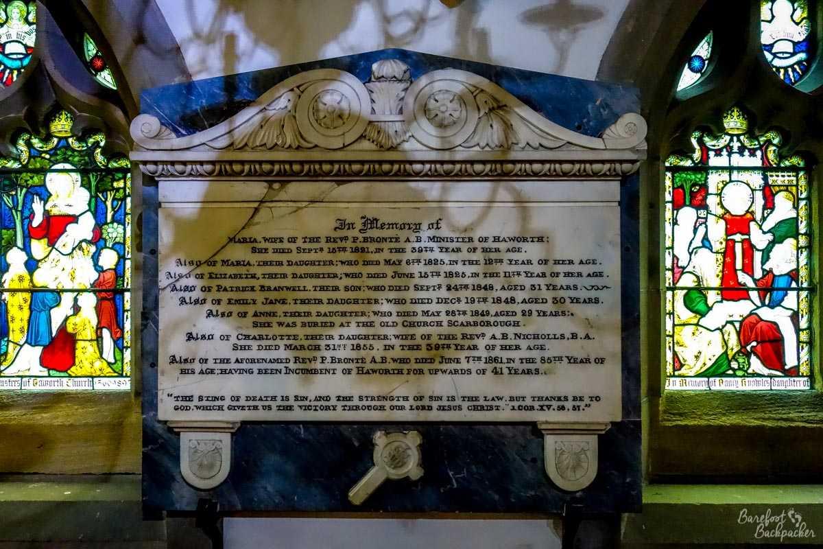 Brontë plaque