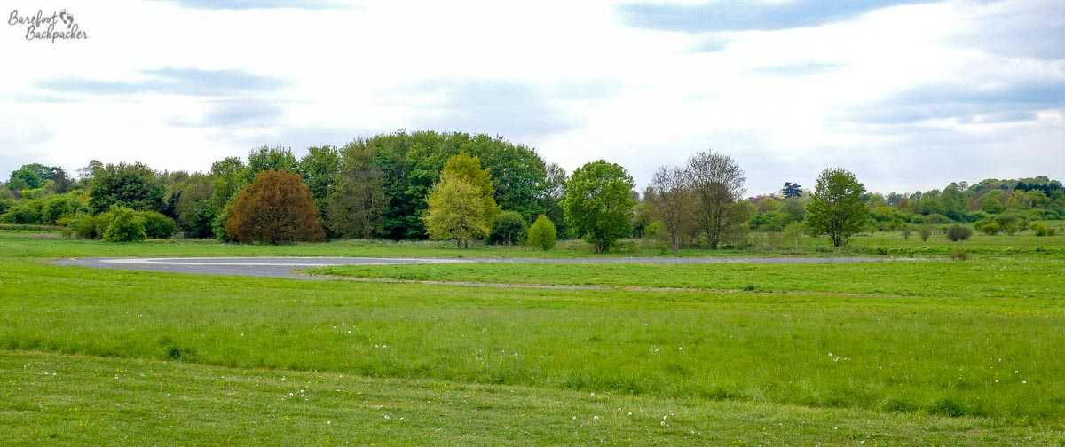 Remains of Croydon Airport runway