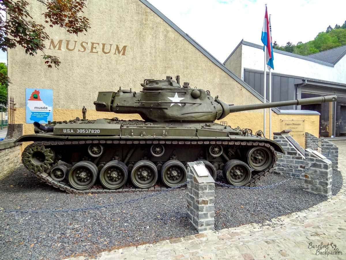A tank in Diekirch