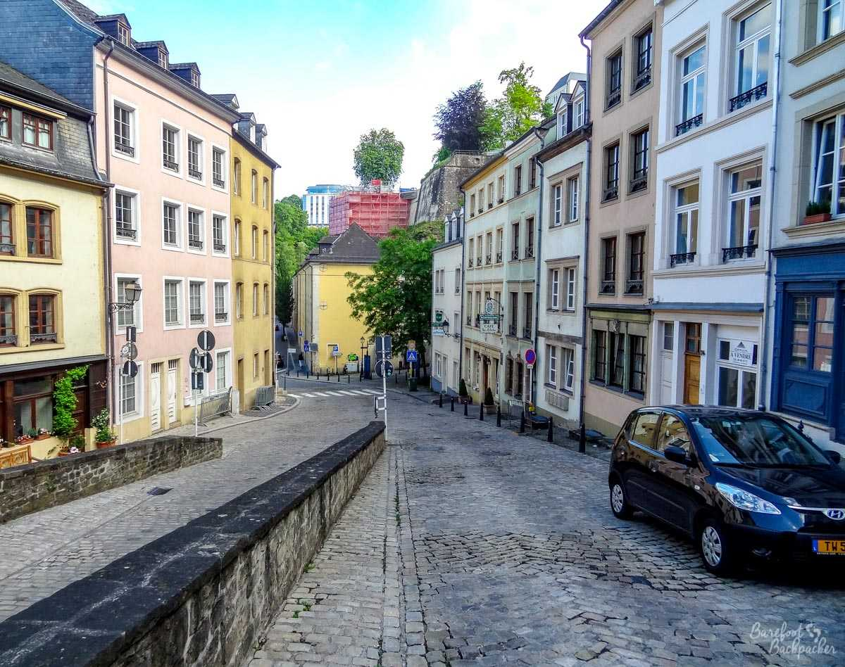 Luxembourg City backstreets