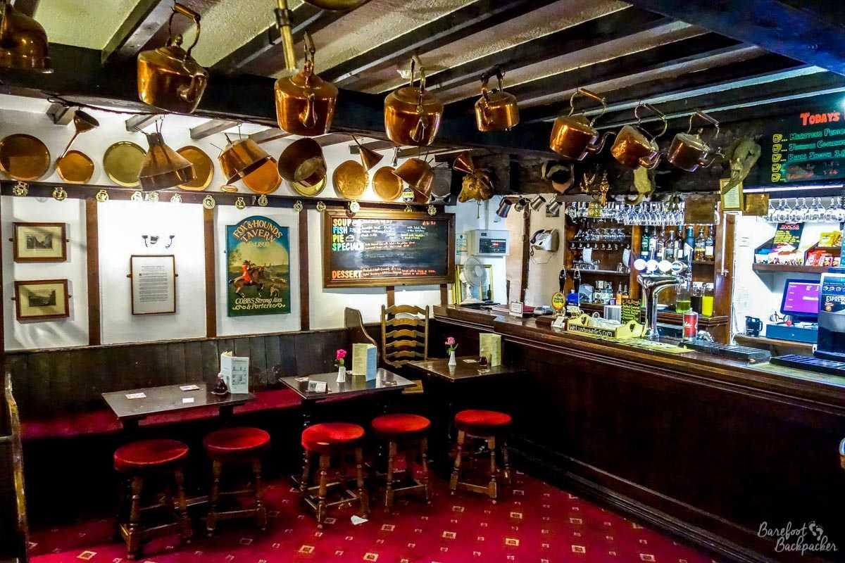 The bar in the Strines Inn