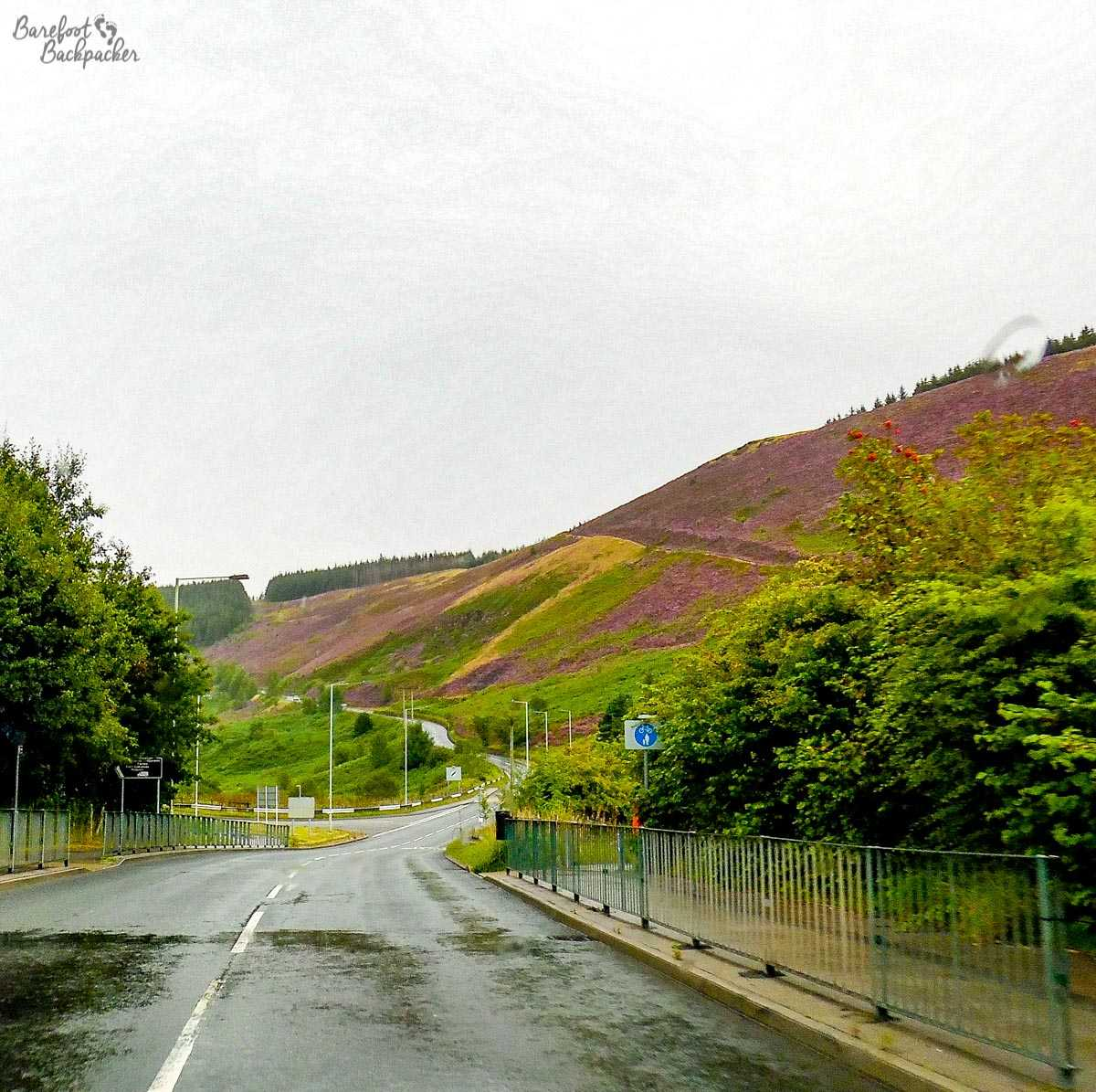 A road in the Rhondda Valley