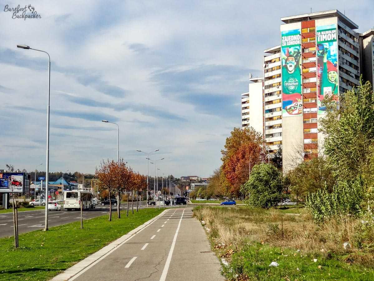 Tower block in Novi Beograd