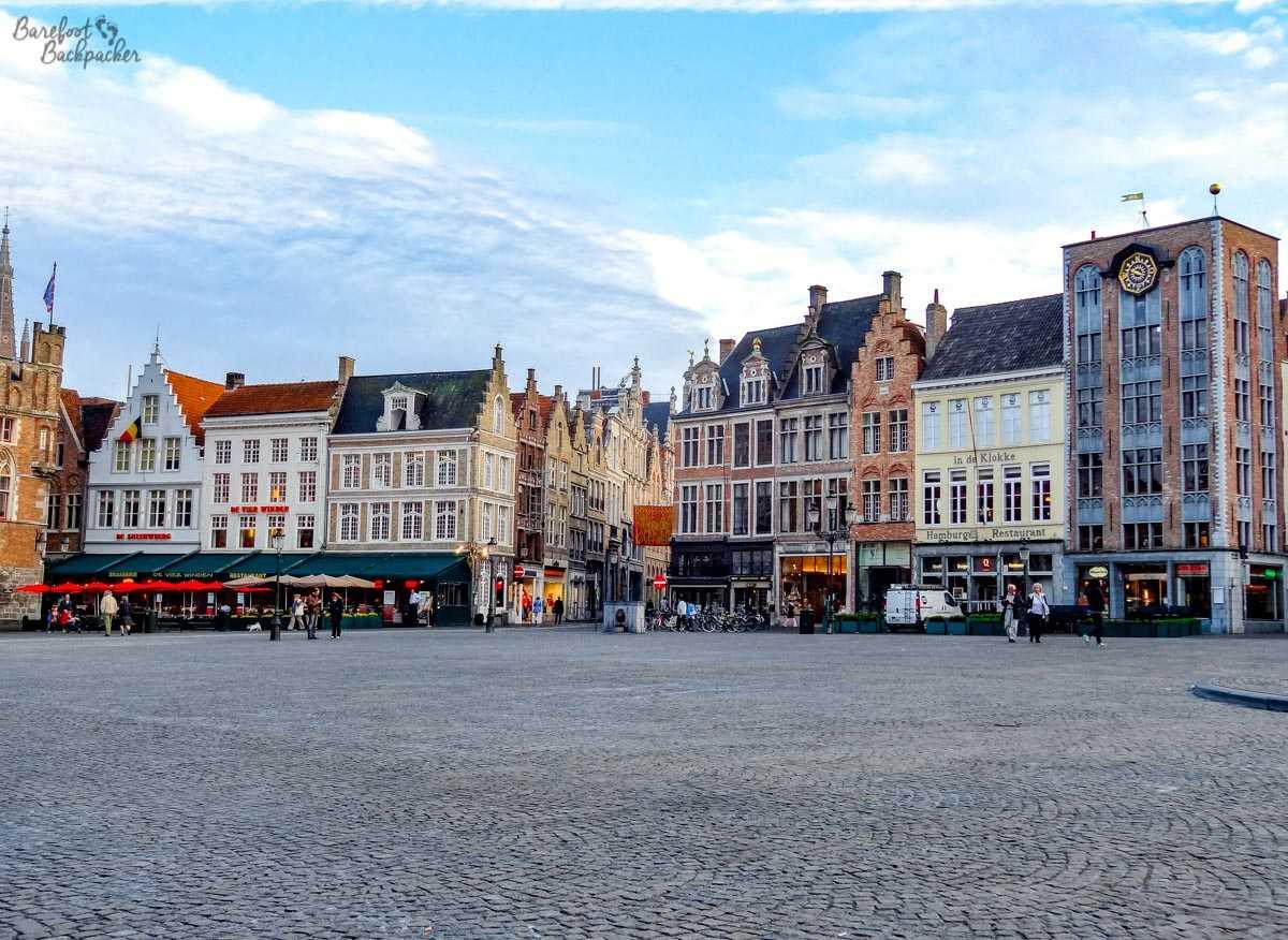 the main square around 9pm
