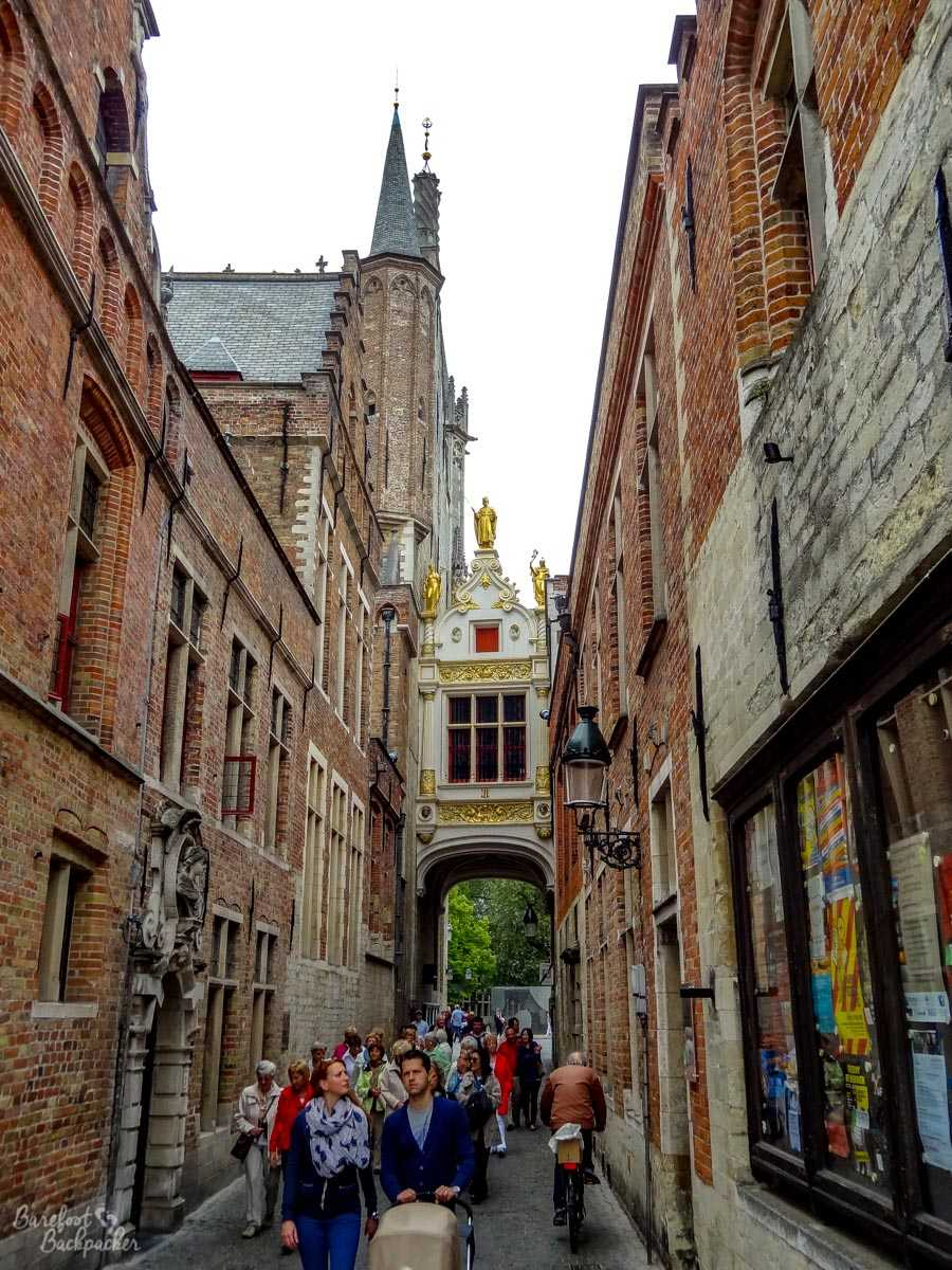one of the alleyways in the old part of town