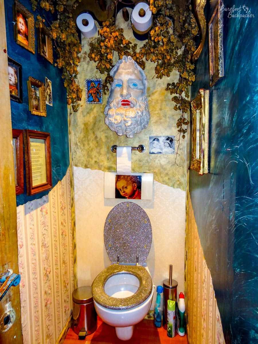 bizarre toilet in the B&B