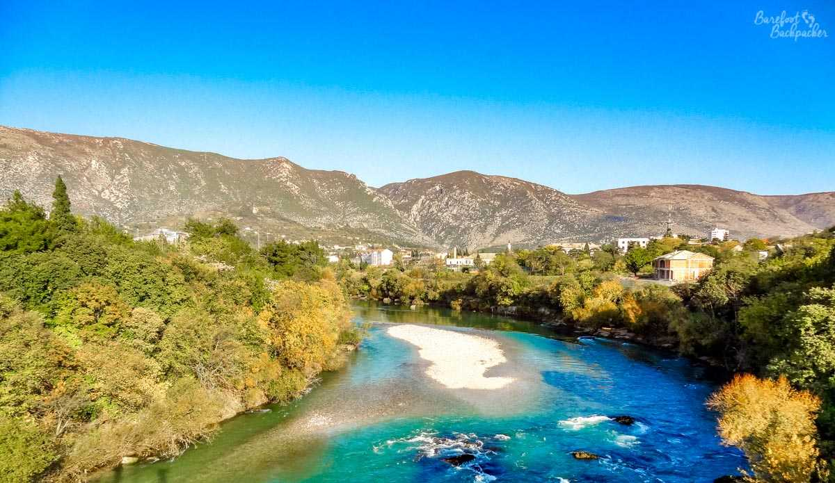 The river and countryside around Mostar