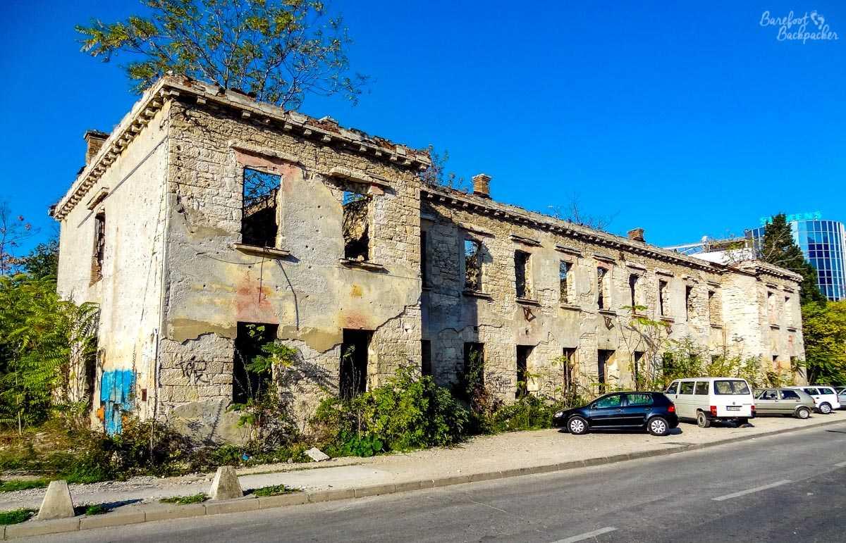 Derelict building in Mostar