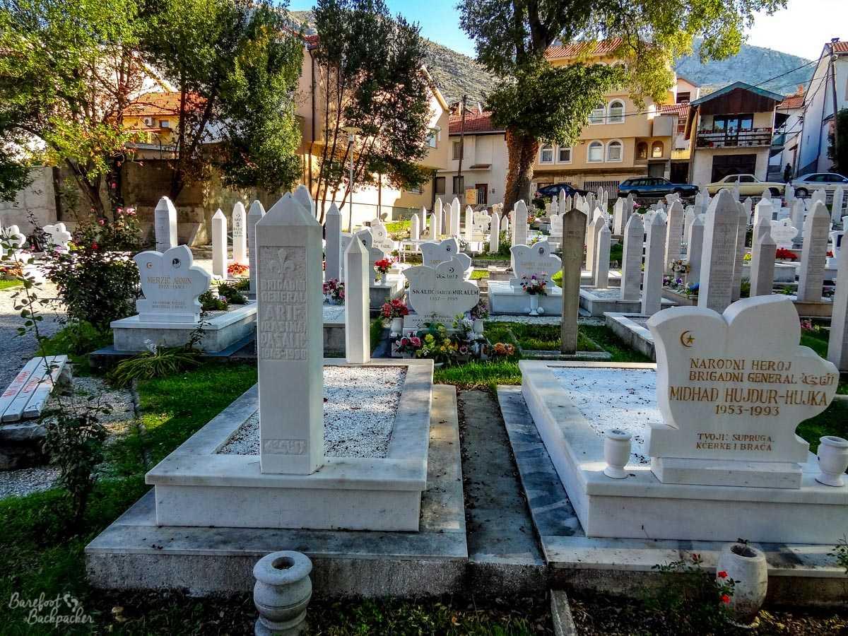 Gravestones in Mostar
