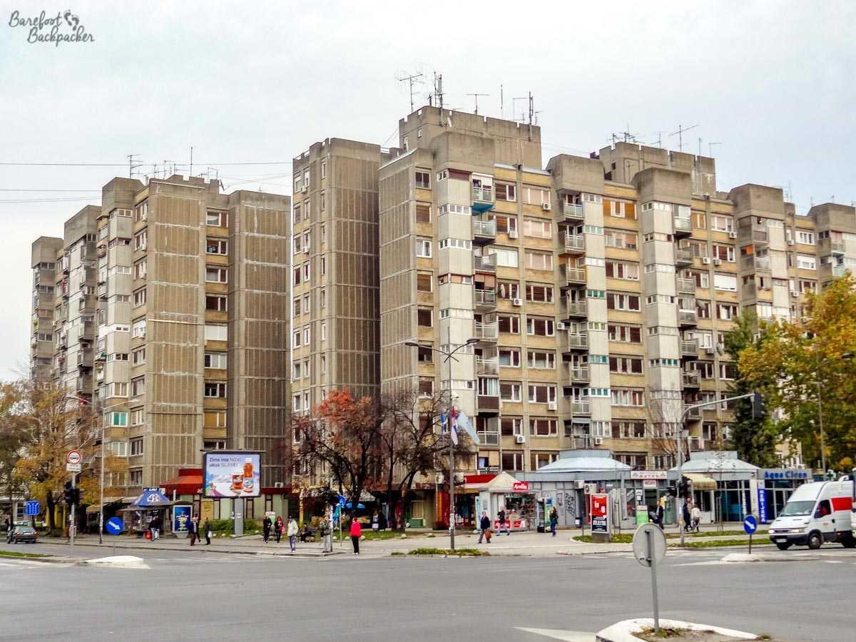 Tower blocks in Novi Sad
