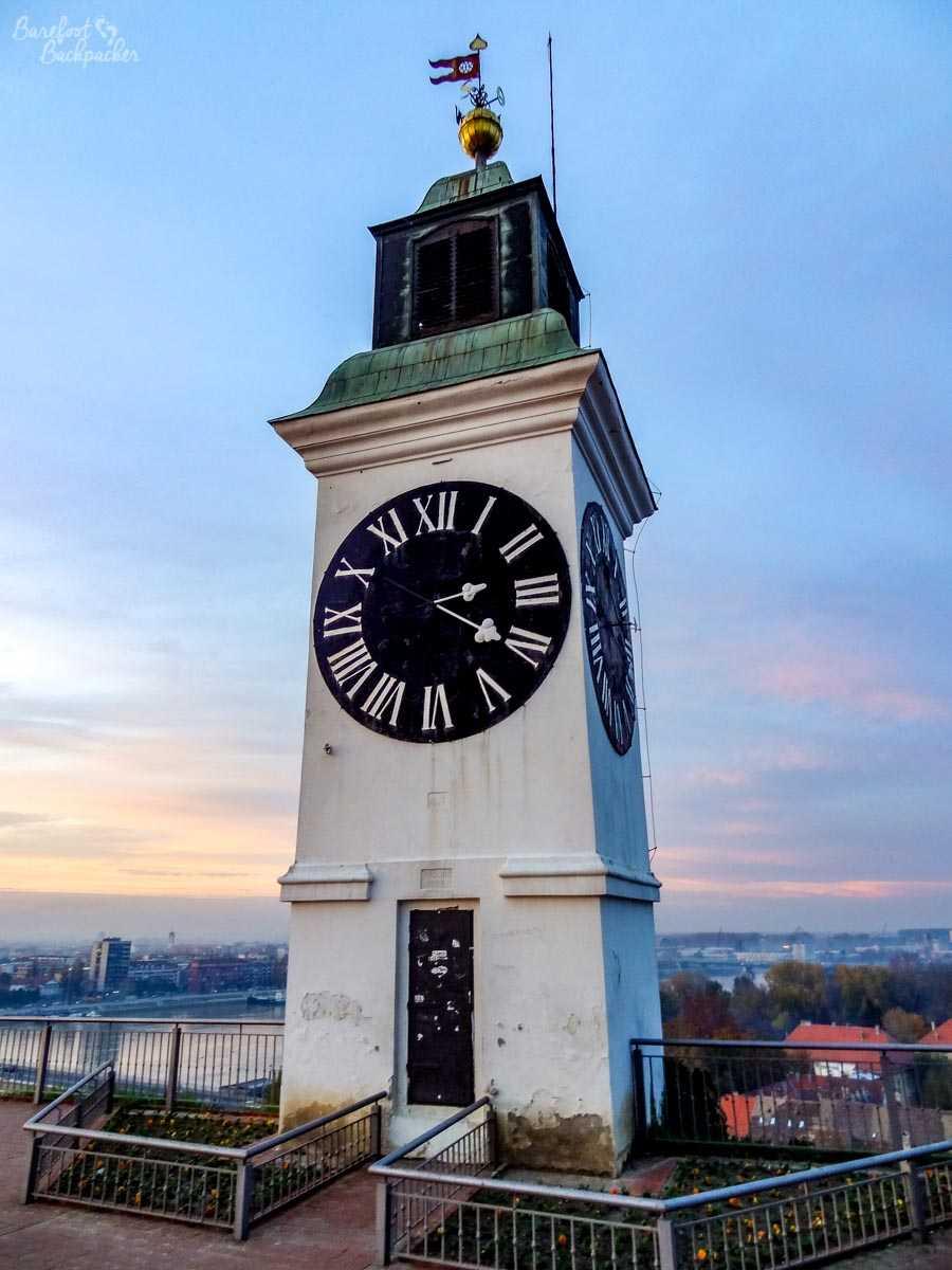 The clock at Petrovaradin Fortress, Novi Sad