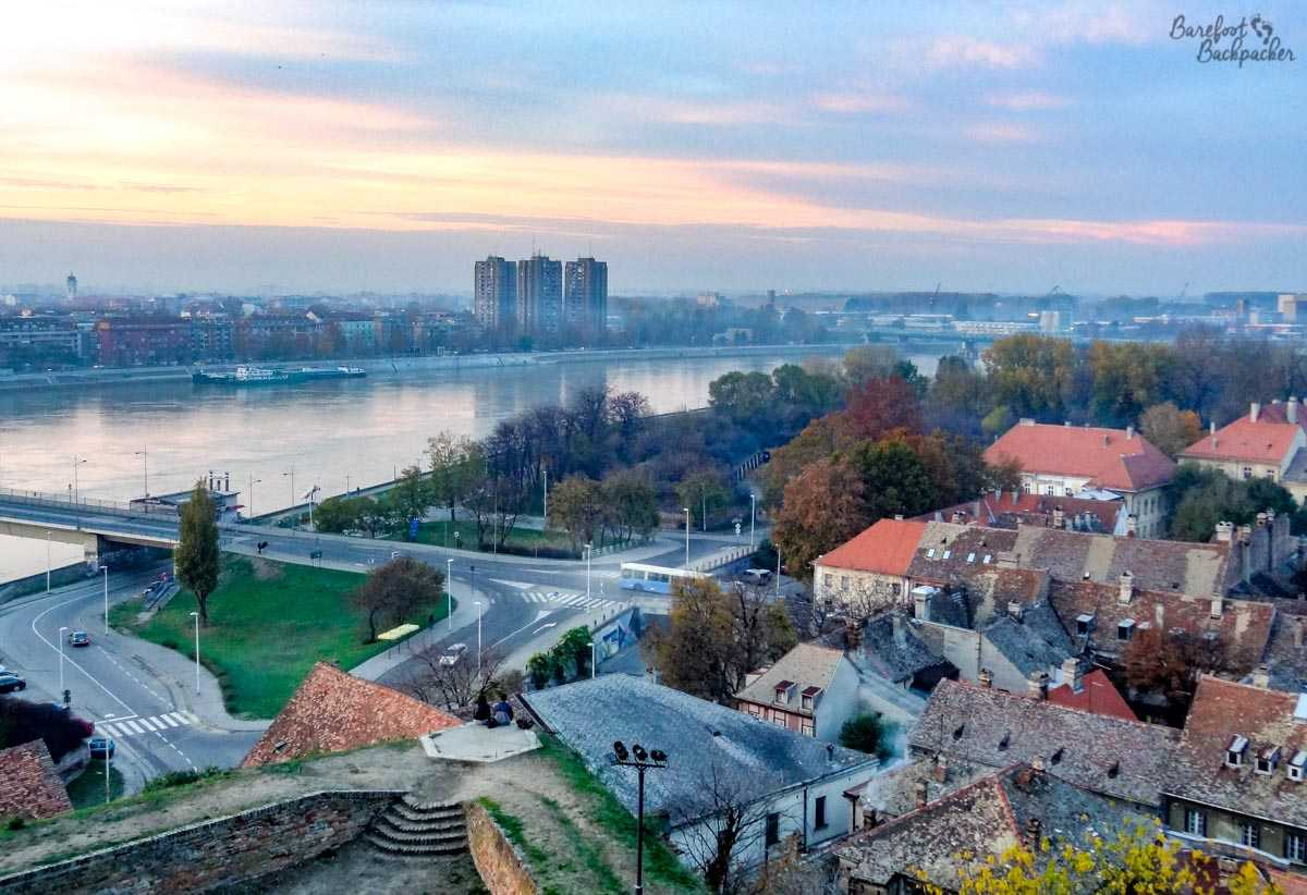 View from Petrovaradin Fortress over Novi Sad