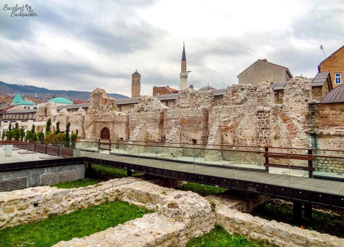 The ruins of Tašlihan, Sarajevo
