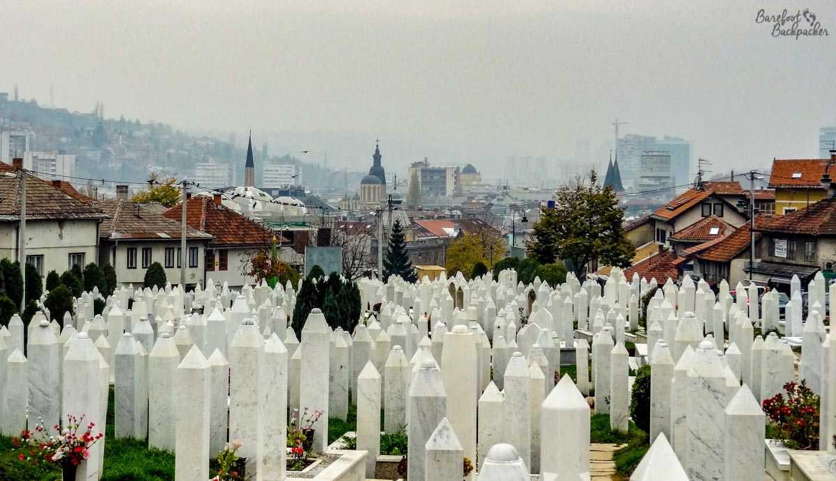 Gravestones in Sarajevo
