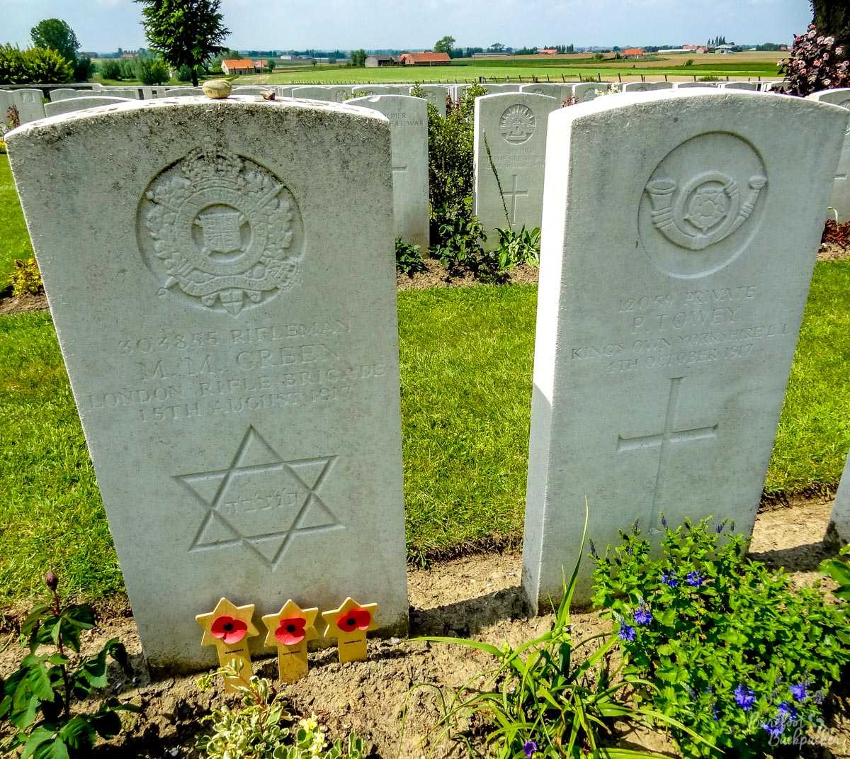 Graves at Tyne Cot Cemetery