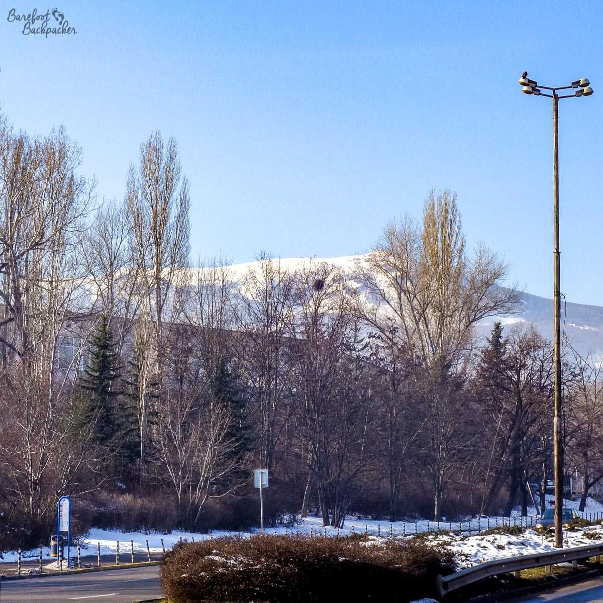 The mountains outside Sofia