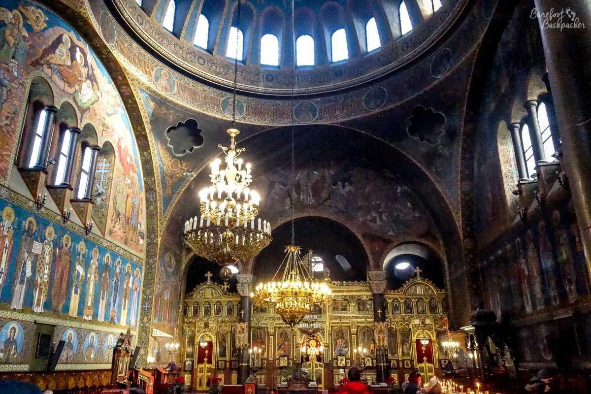 Inside the Sveta Nedelya church, Sofia