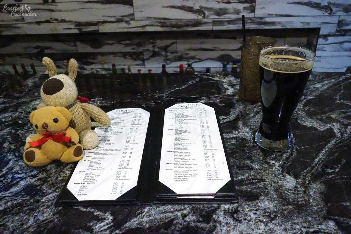 Beer list at Matanza Beer Kitchen, Albuquerque NM