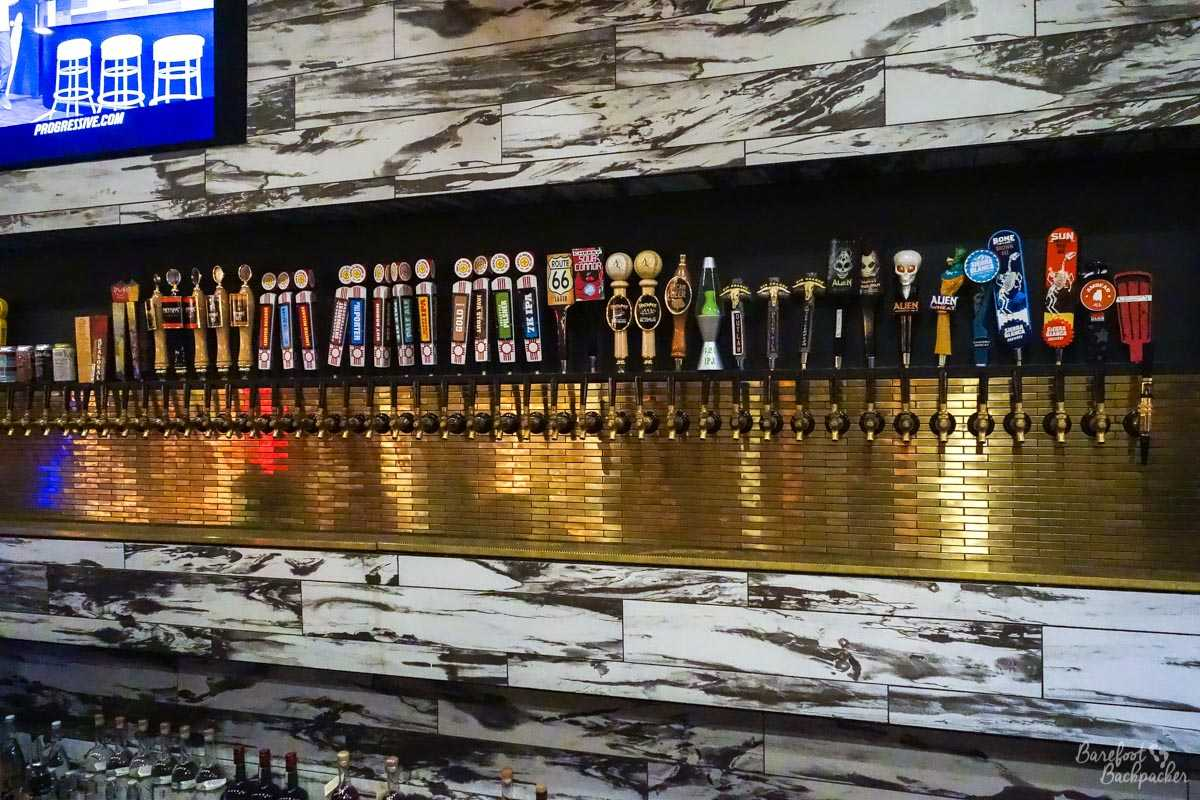Beer taps at Matanza Beer Kitchen, Albuquerque NM