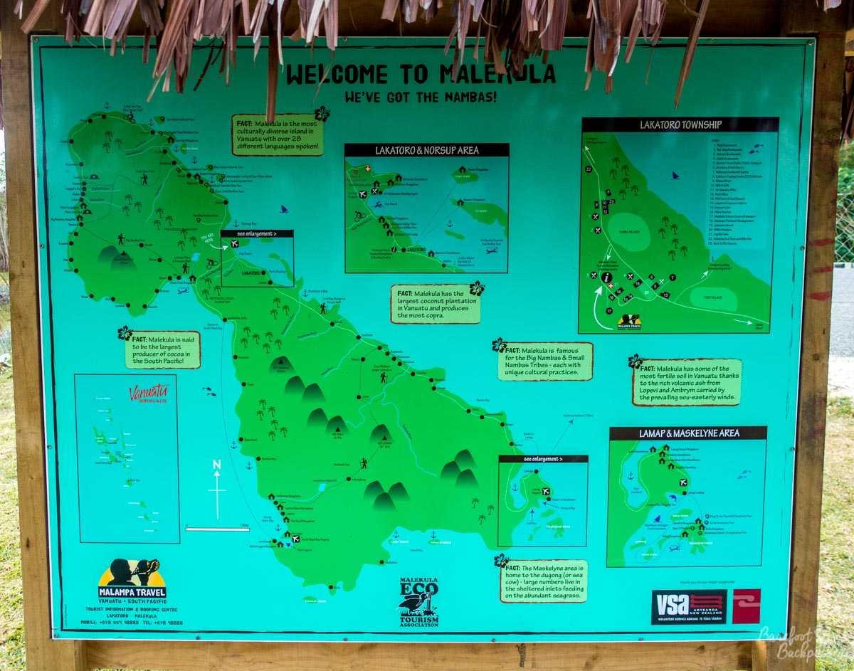A map of Malekula.