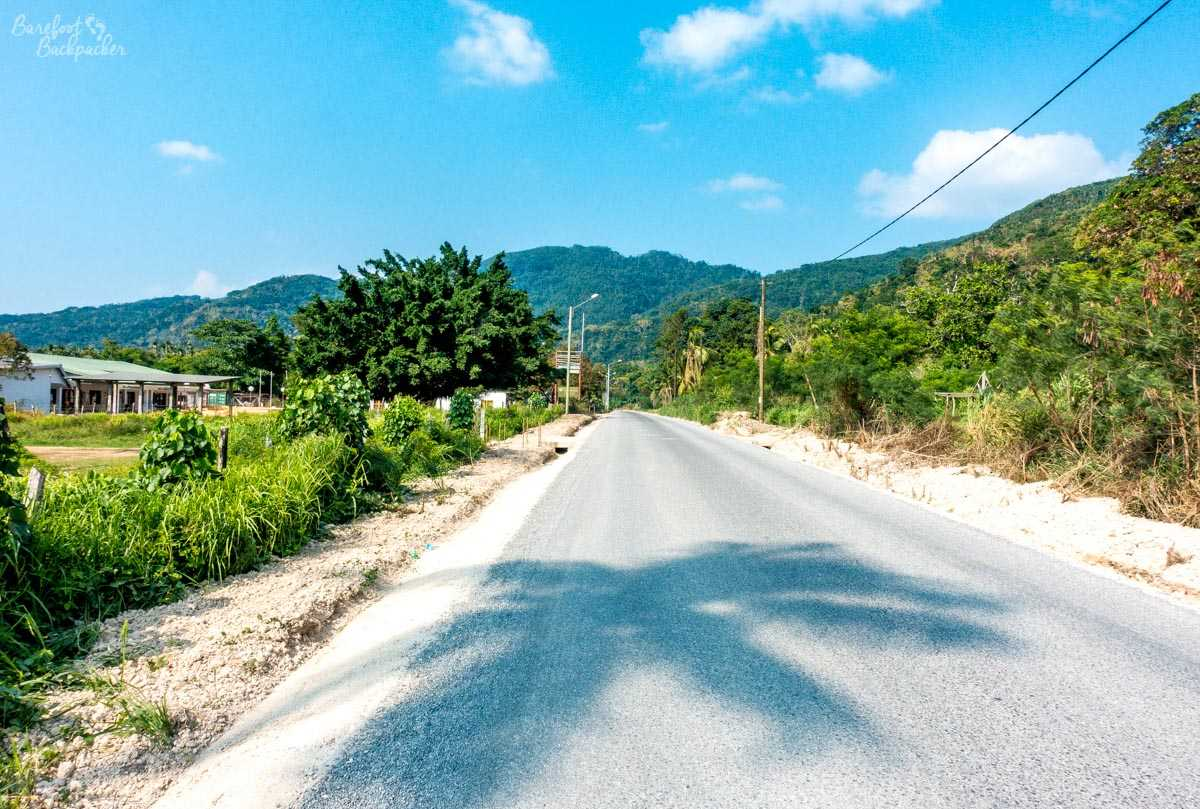 The main road in Malekula.
