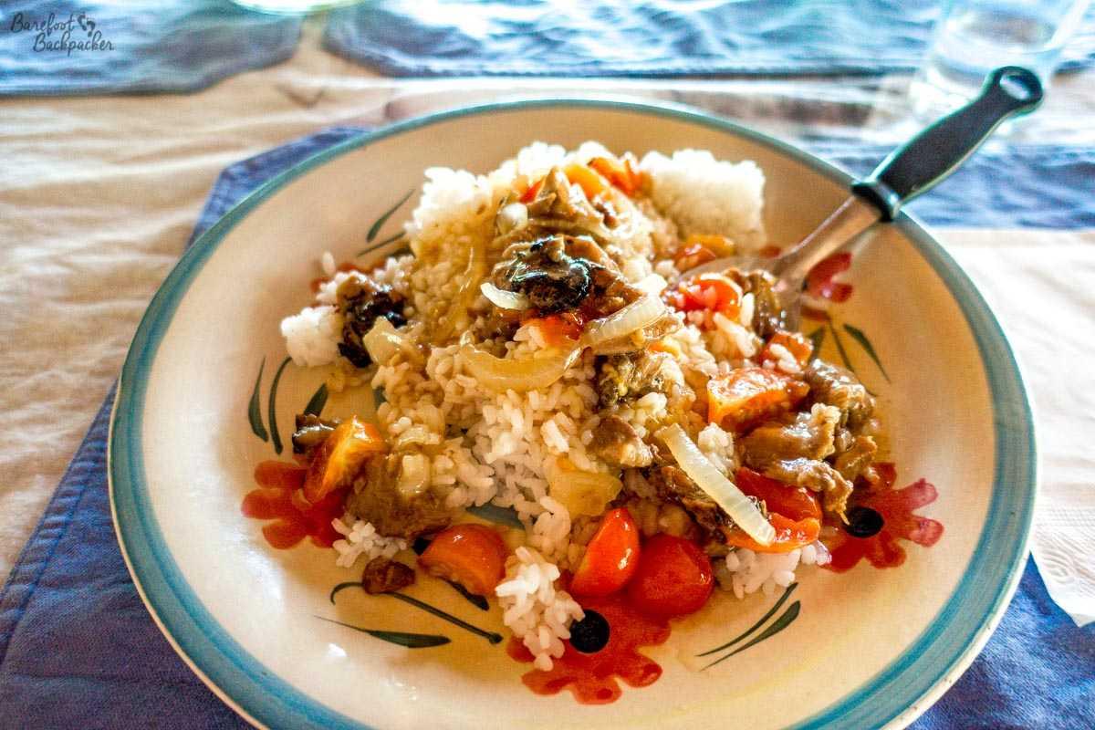 Typical food on Malekula.
