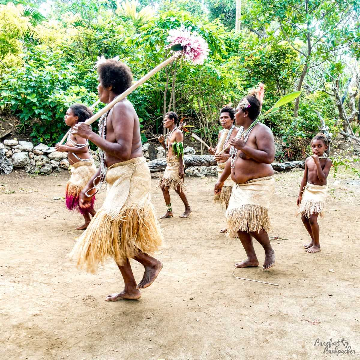 Smol Nambas Tribeswomen doing a traditional dance.