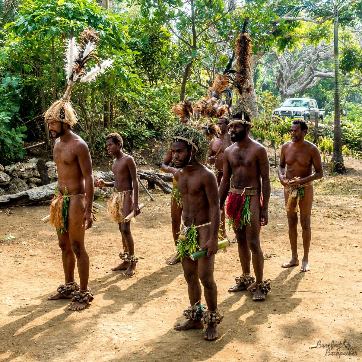 Smol Nambas Tribesmen doing a traditional dance.