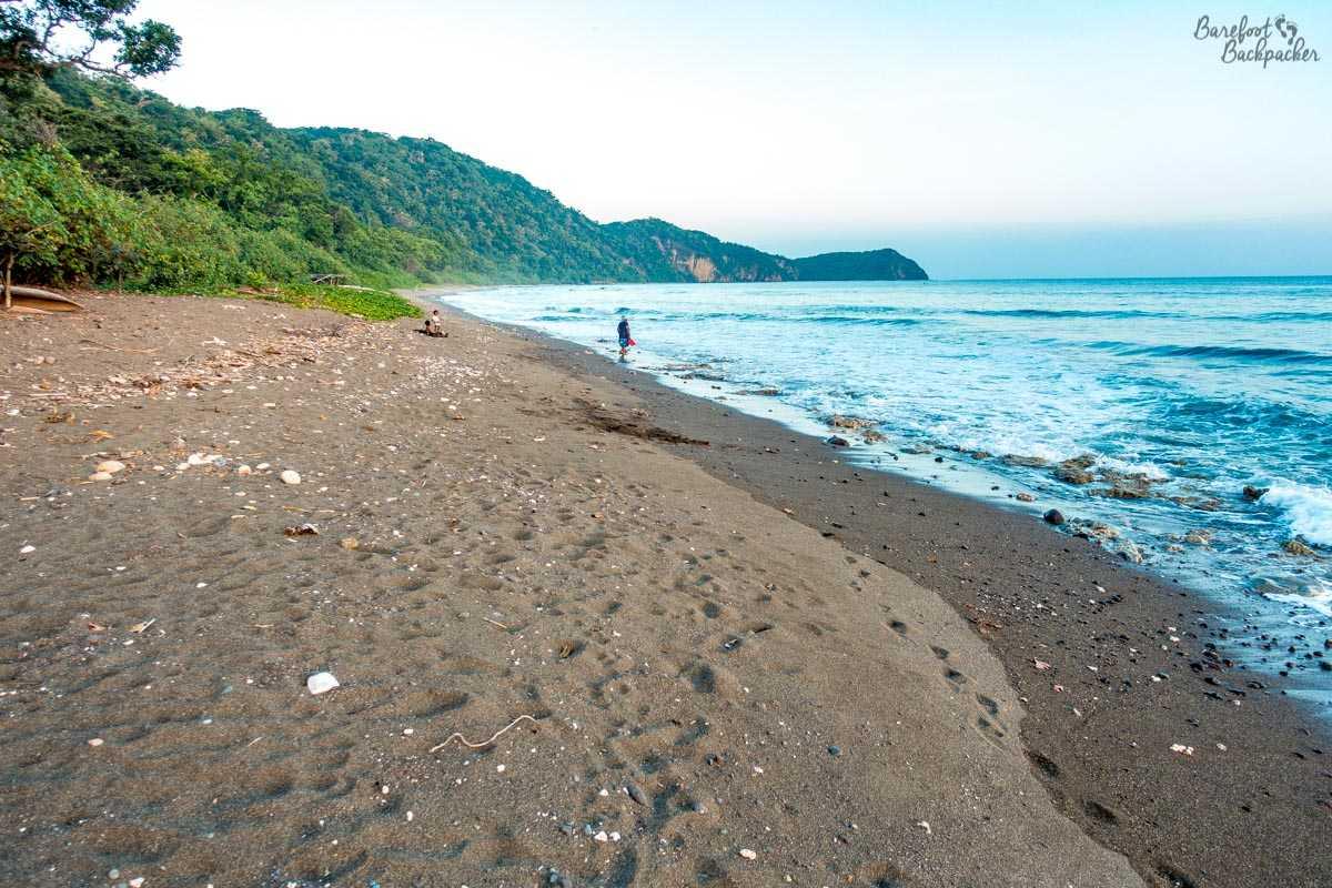 The black sand beach at Wilack, Malekula.