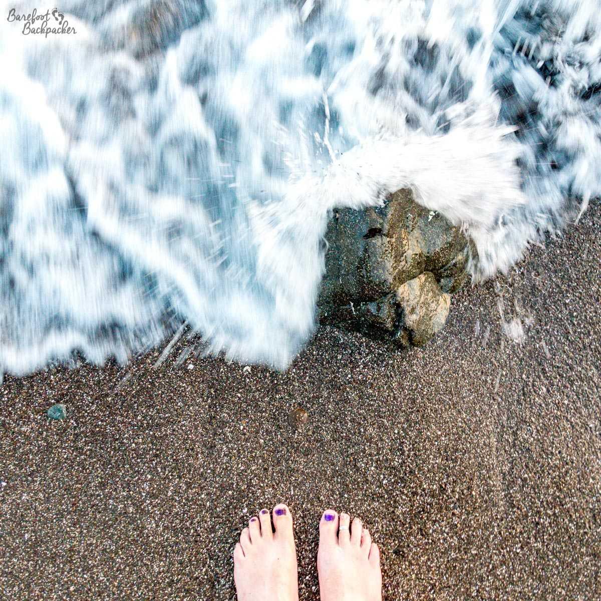 Barefoot on the beach at Wilack, Malekula