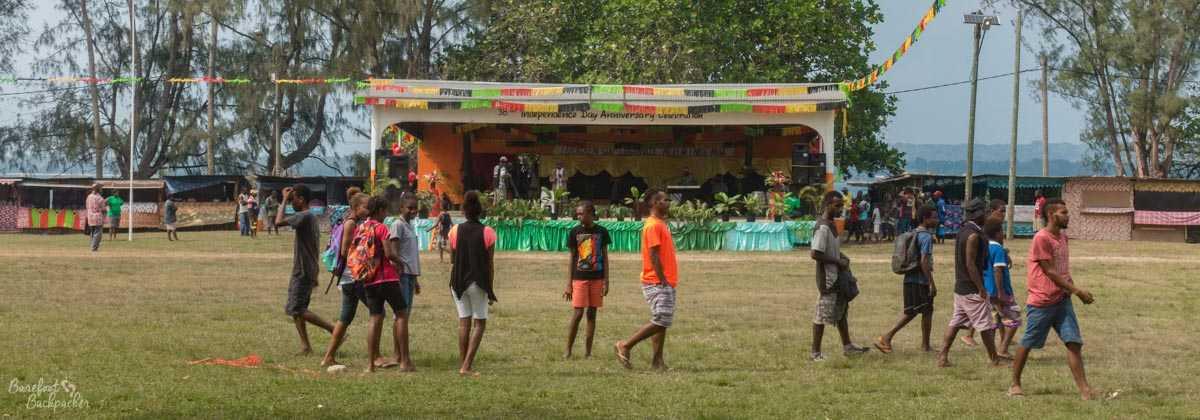 Unity Park, Luganville, Vanuatu, preparing for Independence Day.