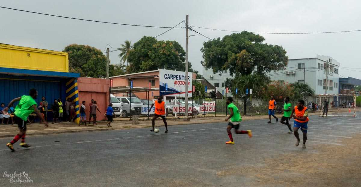 Futsal in Luganville, Vanuatu.