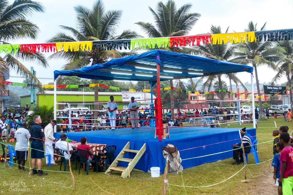 Boxing Ring in Unity Park, Luganville, Vanuatu.